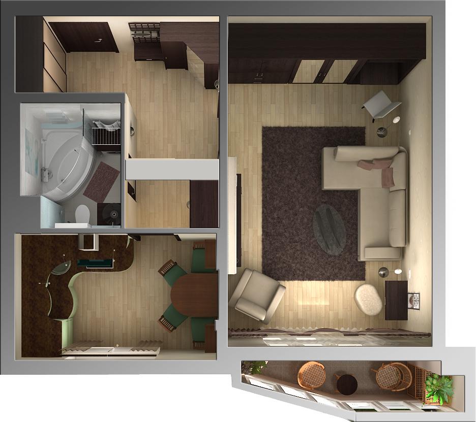 проект однокомнатной квартиры фото очаровательная вещица кофта